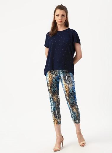 Beymen Studio Beymen Studio Yılan Desenli Skinny Fit  Pantolon Mavi